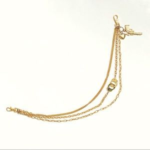 Accessories - Gold triple hanging clasp chain keys pants wallet